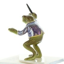 Hagen Renaker Miniature Frog Toadally Brass Band Conductor Ceramic Figurine image 4