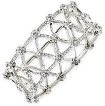 1928® Jewelry Silver-Tone Clear Crystal Stretch... - $42.76