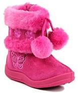 Kali Footwear Little Girl's Zello GlitterPom Pom Boots, Hot Pink 06 - $10.45