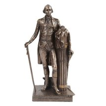 9.5 Inch George Washington Standing Figurine Statue with Walking Stick - $42.77