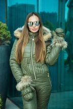 Women's Brand Fashion Hooded Ski Suit Snow Jumpsuit image 2