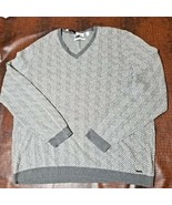 Calvin Klein Men's Slim-Fit Jacquard Sweater Axis Combo Cotton 2X Large - $40.36