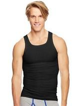 4-Pack Hanes Classics Mens TAGLESS ComfortSoft Dyed A-Shirt Tank Black/Grey S-XL - $29.44