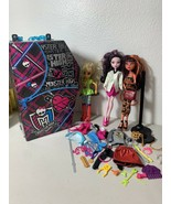 Monster High and other Lot - 3 Dressed Dolls, Carey Case, & Accessories Mattel - $37.04