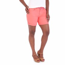 "Riders by Lee Women's 6"" Belted Cuff Shorts Georgia Peach Size 6 New - $16.82"