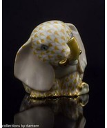 Herend First Edition Porcelain Baby Elephant Sitting SVHJM--15429 Yellow... - $335.00