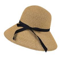 2019 Women Wide Brim Summer Sun Hat With Bowknot Floppy Beach Bohemian Sun Hats  image 2