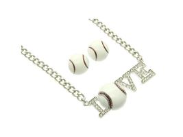 I Love Baseball Jewelry Set in Rhodium Tone - $16.95