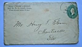 US 1894 Cover Scott U358 (?) to Monticello, Fla. - $9.50