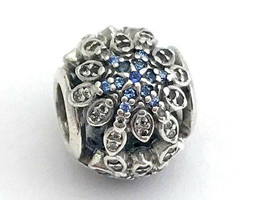 Authentic Pandora Crystalized Snowflakes Blue Crystal Charm, 791760NBLMX... - $65.83