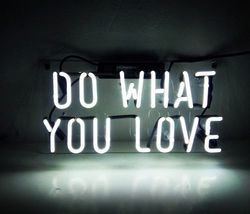 "New Do What You Love Wall Decor Acrylic Back Neon Light Sign 14"" Fast Ship - $60.00"