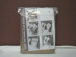"Madison Park Emilia 50"" x 95"" Lined Faux-Silk Twisted Tab Window Panel T4101400 - $25.73"