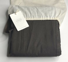 Restoration Hardware Garment-Dyed Sateen Duvet Cover Twin Chocolate NEW ... - $119.99