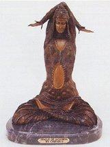 American Handcast Bronze Sculpture Statue Temple of Godness By Demetre Chiparus  - $563.50