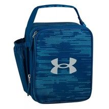 Thermos Under Armour Scrimmage Lunch Box Vivid Blu molded plastic interi... - $22.77