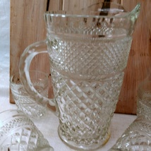 """5 Anchor Hocking Wexford """"On the Rocks"""" old fashioned glasses and Pitcher image 5"""