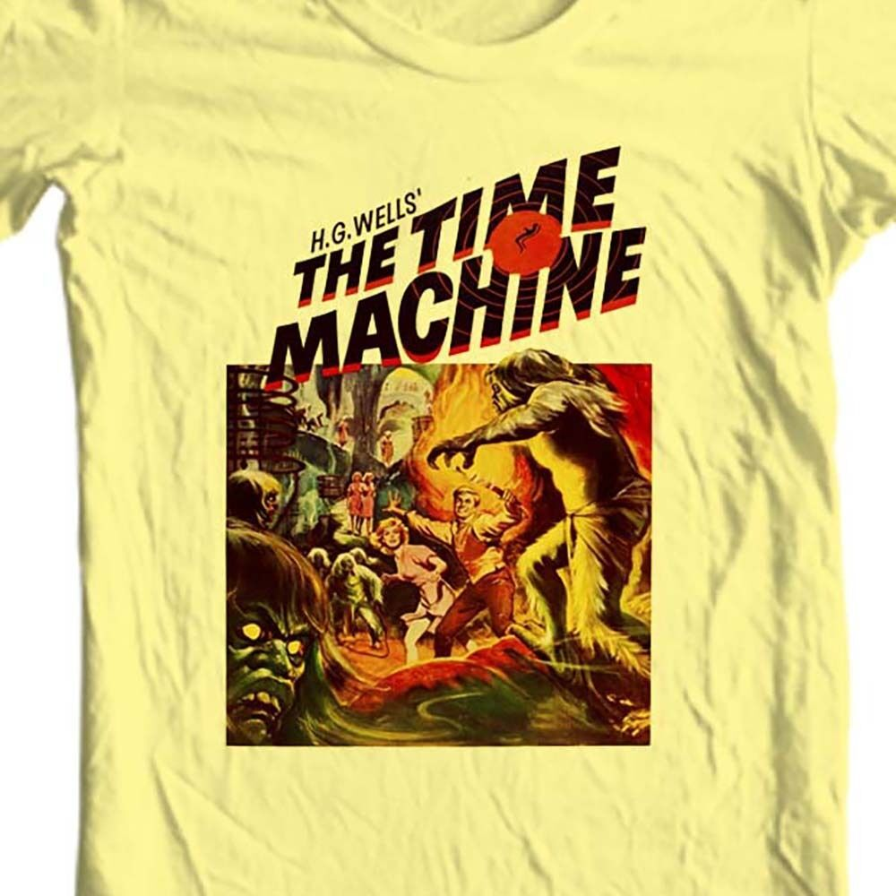 The Time Machine T-shirt vintage Sci Fi movie free shipping 100% cotton