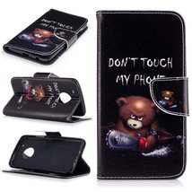 XYX Wallet Phone Case for Moto G5 Plus,[Do not Touch My Phone][Kickstand... - $9.88