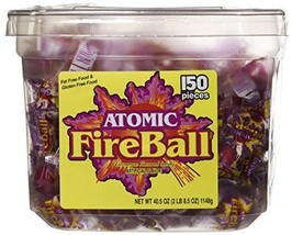 Atomic Fireballs Cinnamon Hard Candy, 40.5 Ounce Tub - $30.28