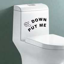 Honana PUT ME DOWN Pattern Home Toilet Sticker Black 20 x 8CM Decal Art ... - $150.99