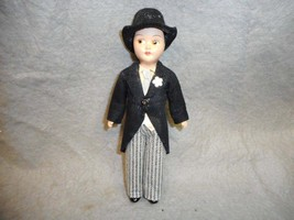 "VINTAGE BRIDEGROOM DOLL 7"" DOLL PAINTED EYES  N/R - $14.99"
