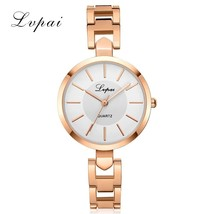 Lvpai® Women Luxury Bracelet Watch Fashion Brand Rose Gold Quartz Wristw... - $6.49