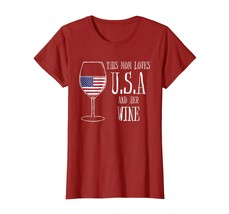 Special shirts - This Mom Loves USA & Her Wine Women's Independence Tee Wow - $19.95+