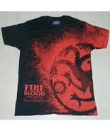 Game of Thrones Targaryen Fire & Blood Dragon Logo Body Print T-Shirt NE... - $16.99