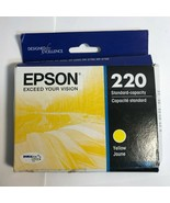 New Epson Genuine T220420S 220 Yellow Ink Cartridge RETAIL BOX Exp 01/2023 - $9.89