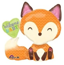 "LoonBalloon Fox Woodland Animals Boy Girl Welcome Baby Heart Shower 35"" ... - €9,63 EUR"