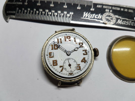 PH wolf antique 7 jewel wire lug trench watch for restoration balance or... - $134.49