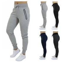 Womens Jogger Sweatpant w/ Zipper Pockets Slim-Fit Lounge Running Gym 2-... - $22.37