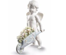 LLADRO flowers boy angel 01009193  CELESTIAL FL... - $878.34