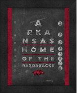 "Arkansas Razorbacks 13x16 College ""Chalkboard Look Eye Chart"" Framed Print - $39.95"