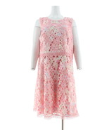 Isaac Mizrahi Special Edition Printed Lace Dress Pink 16 NEW A305235 - $76.21