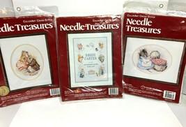 3 Needle Treasures Stitchery Kits Hagara  #02577, 02578, 02579 New 12 x 16 - $55.43