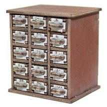 28mm Furniture: Medium Wood Safety Deposit Box 16 -30