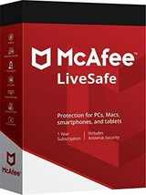 Mcafee Livesafe 2020 - 1 Year Product Key Unlimited Devices - Windows Mac Ios - $23.99
