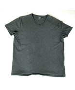 Bonobos Mens T-Shirt Large Slim Fit Gray V Neck 100% Cotton - $14.84