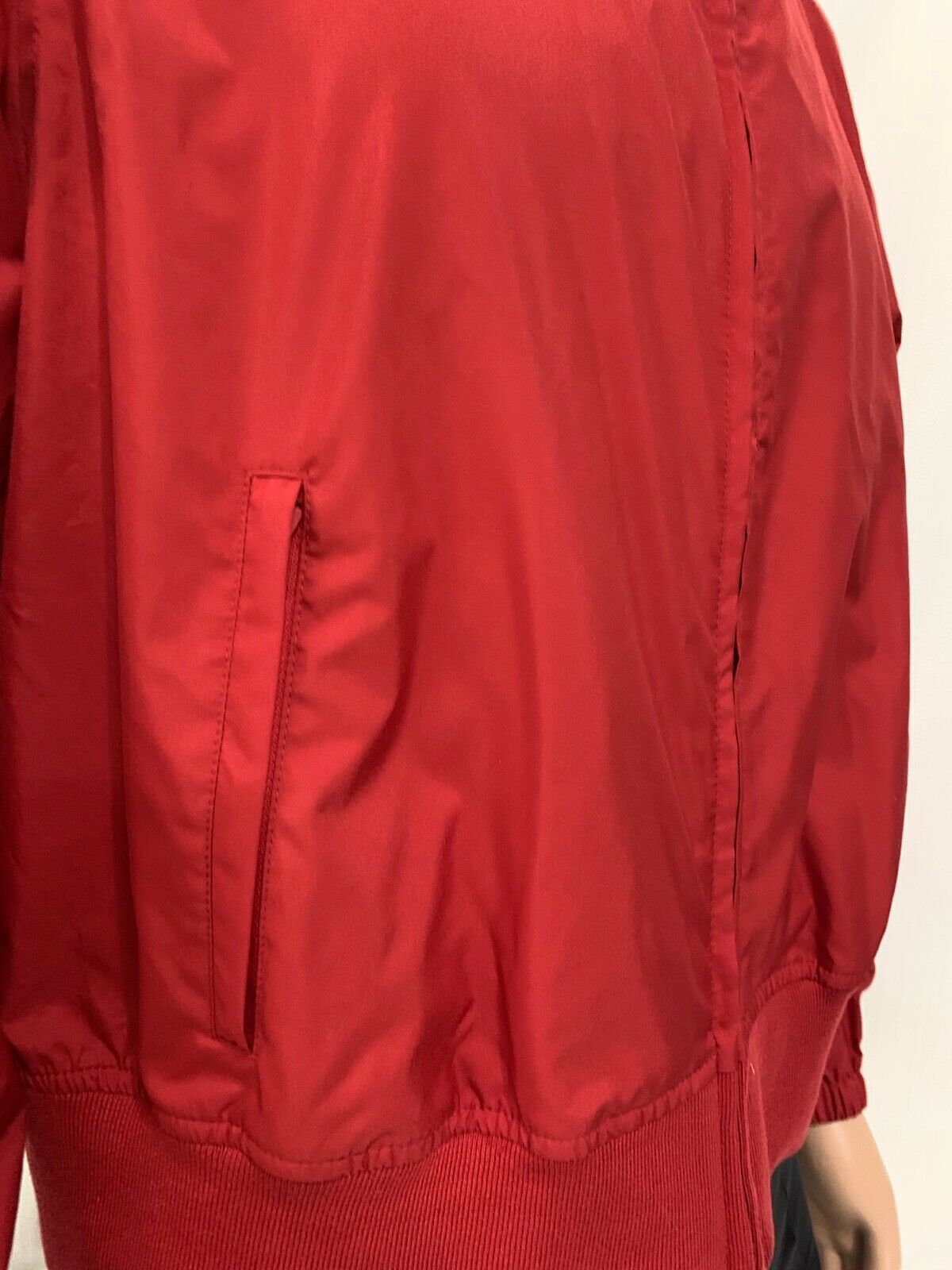 Women TOMMY HILFIGER Jeans RAIN Jacket Coat Windbreaker Pockets RED No Lining XL image 4