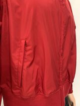 Women TOMMY HILFIGER Jeans RAIN Jacket Coat Windbreaker Pockets RED No Lining XL image 4