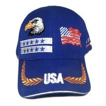 United States Of America USA Flag Military Bald Eagle Trucker Strapback Hat - $16.95