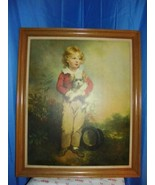 Painting Master Simpson By Arthur Devis- Boy With Top Hat & Dog 35 X 29.5 - $247.50