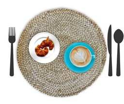 Nature4u 100% Jute Round Woven Braided PLACEMAT (Set of 2, 4 & 6),  natural - $17.66+