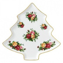Royal Albert Old Country Roses Christmas Tree Tray NEW IN THE BOX - $59.39