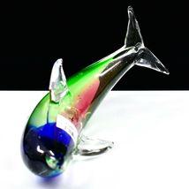 Dynasty Gallery Handmade Rainbow Dolphin Art Glass Figurine Paperweight image 5