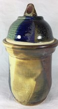 Handmade Studio Pottery Art Dipped Glazed Stone... - $55.27