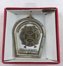 Nations Treasures Firefighters Int. Champs MarylandBrass Metal Ornament Souvenir - $15.00