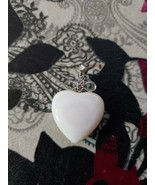 "Heart Pendant - Off White - 0.75"" Wide - $4.99"