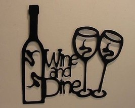 Wine and Dine Metal Wall Art by HGMW - $22.76